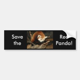 Panda rouge autocollants pour voiture