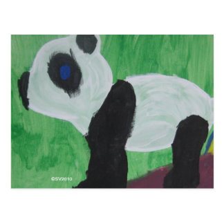 Panda scherzt Kunst durch Postkarte SV2010