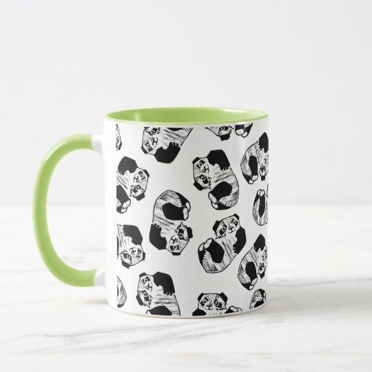 Panda-Spiel-Schwarzes 11 Unze-Wecker-Tasse Tasse