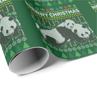 Panda-Tier-frohe Weihnacht-hässliche Geschenkpapier