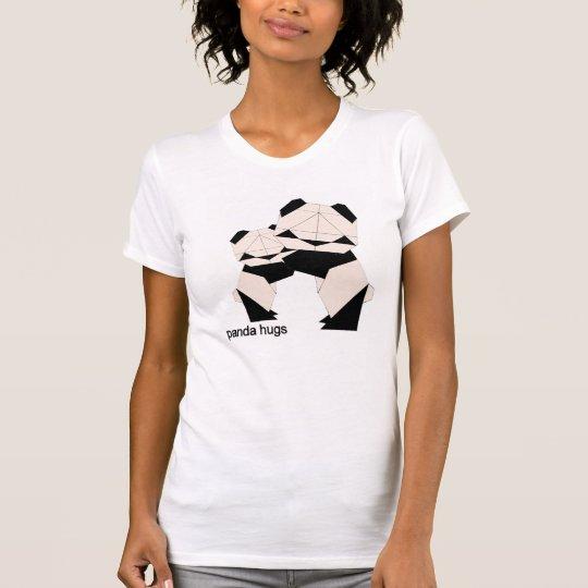 Panda umarmt Damen-T-Stück T-Shirt