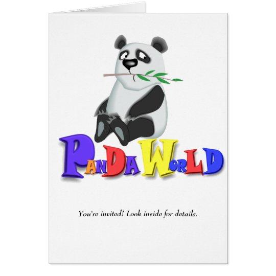 Panda-Welt Grußkarte