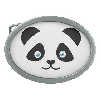 Pandabärngesicht Ovale Gürtelschnallen