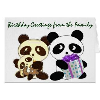Pandageburtstagsgrüße Karte