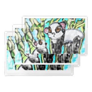 Pandamutter und -junges acryl tablett