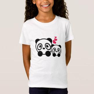 Pandapaar-Mädchen-T - Shirt