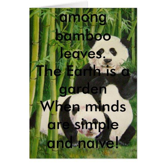 pandas2, dort ist nur Schwarzweiss--, einfaches… Grußkarte