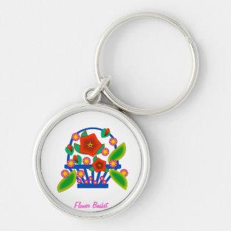 Panier de fleur porte-clés