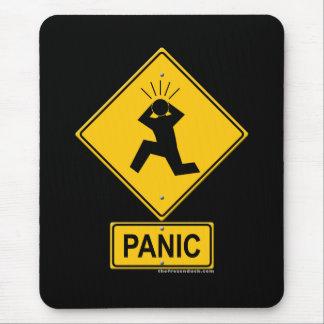 Panik-Warnzeichen Mauspad