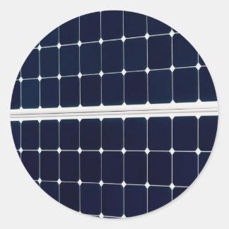 Panneau d'énergie solaire sticker rond