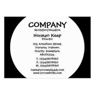 Panneau rond - blanc avec le noir carte de visite grand format