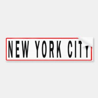 PANNEAUX NEW YORK CITY AUTOCOLLANT POUR VOITURE