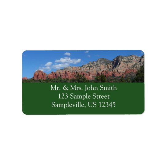 Panorama der roten Felsen in Sedona Arizona Adressaufkleber