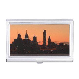 Panorama von Philadelphia, Pennsylvania Visitenkarten-Behälter