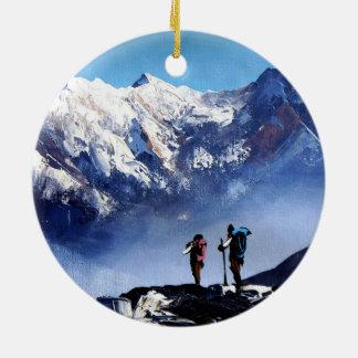Panoramablick Ama Dablam HöchstEverest Berges Keramik Ornament