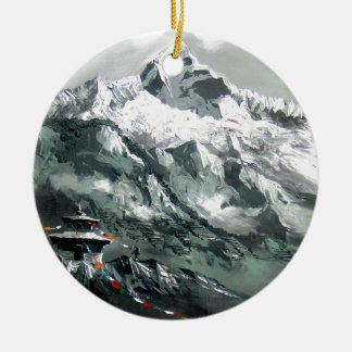 Panoramablick niedrigen Lagers Everest Keramik Ornament