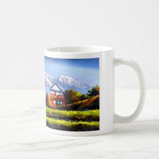 Panoramablick schönen Everest-Berges Kaffeetasse