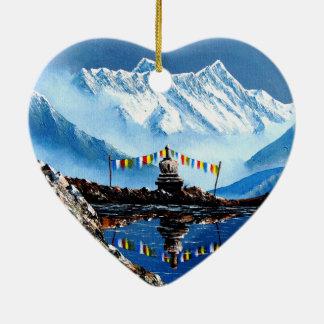 Panoramablick von Annapurna Berg Nepal Keramik Ornament
