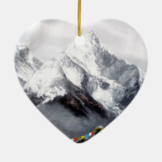 Panoramablick von Everest-Berg Keramik Ornament