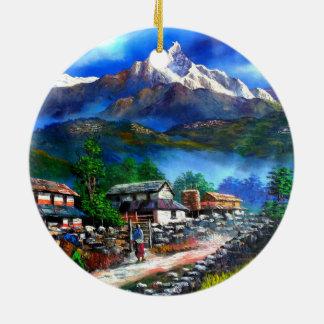 Panoramablick von Everest-Berg Nepal Keramik Ornament