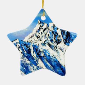 Panoramablick von Everest-Bergspitze Keramik Ornament