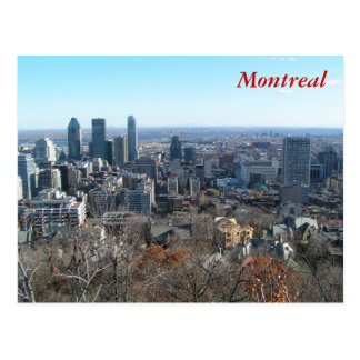 Panoramablick von Montreal Postkarte