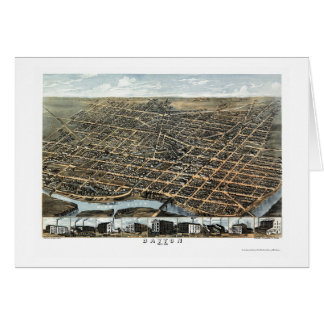 Panoramische Karte Daytons, OH- - 1870