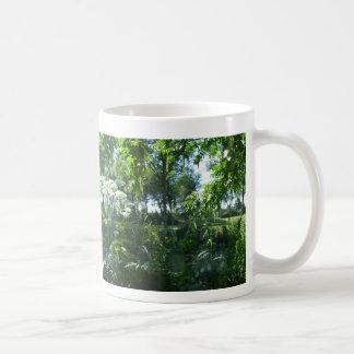 Panoramische sonnige Park-Kaffee-Tasse Kaffeetasse