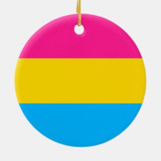 """PANSEXUAL STOLZ-FLAGGE "" RUNDES KERAMIK ORNAMENT"