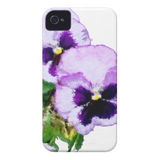 pansy16watercolor1-15 iPhone 4 Case-Mate hülle