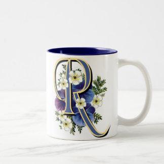 Pansy-Initiale - R Zweifarbige Tasse