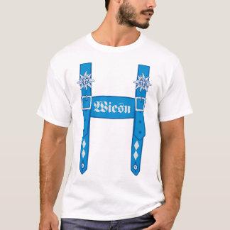 Pantalon de cuir salopette fête de la bière fête t-shirt