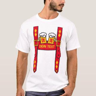 Pantalon de cuir + Ton TEXTE salopette fête de la T-shirt