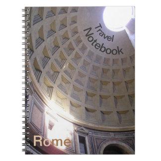 Pantheon-Rom-Bestimmungsort-Reise-Notizbuch Spiral Notizblock