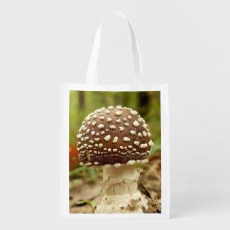 Panther-Kappen-Pilz-wiederverwendbare Tasche Wiederverwendbare Einkaufstasche