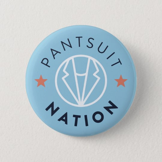 Pantsuit-Nations-Knopf, hellblau Runder Button 5,7 Cm