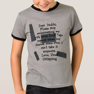 Panzerklebeband-Reparaturen T-Shirt