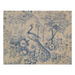 Paon antique Toile Poster