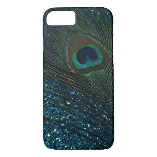 Paon scintillant d'Aqua Coque iPhone 7