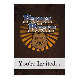 Papa-Bär, cooler Vatertags-Vintager Blick 12,7 X 17,8 Cm Einladungskarte