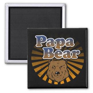 Papa-Bär, cooler Vatertags-Vintager Blick Kühlschrankmagnet