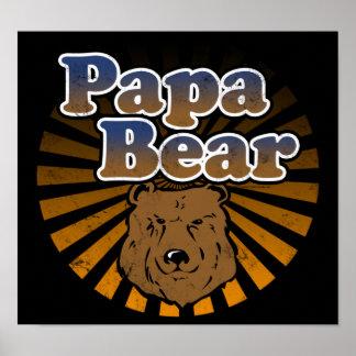 Papa-Bär, cooler Vatertags-Vintager Blick Plakat