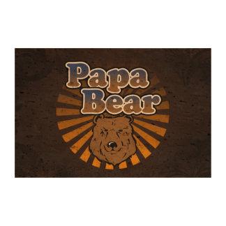 Papa-Bär, cooler Vatertags-Vintager Blick Korkdruck