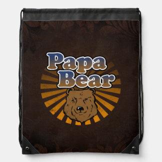 Papa-Bär, cooler Vatertags-Vintager Blick Turnbeutel