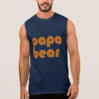 Papa-Bär (orange) Ärmelloses Shirt