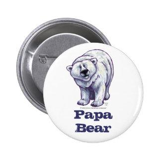 Papa-Bärn-Eisbär-Knopf Runder Button 5,7 Cm