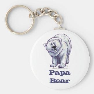Papa-Bärn-Eisbär-Schlüsselkette Standard Runder Schlüsselanhänger