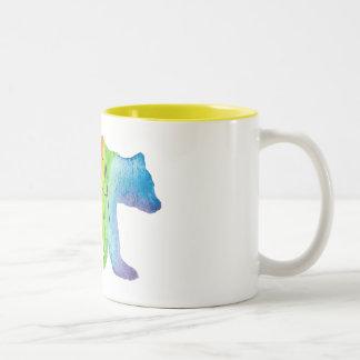Papa-Bärwatercolor-Familien-Stolz-Tasse Zweifarbige Tasse