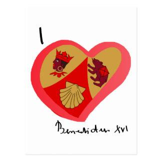 Papa Benedetto nel cuore Postkarte