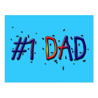 Papa bleu de la fête des pères #1 cartes postales